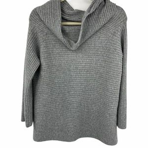 Lou & Grey | Gray Ribbed Cowl Neck Sweater